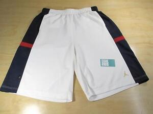 595a1bea6548 Details about NIKE AIR JORDAN CUSTOM MADE RETRO BASKETBALL SHORTS WHITE  BLUE RED USA VI VII