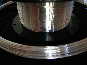 5 FT Sterling Silver Round Wire 20-26 Gauge 925 Solid Half Hard - MADE IN USA