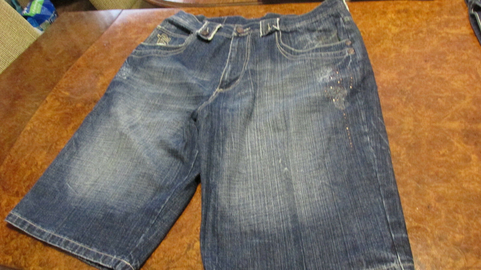 FUBU Denim men's shorts size 42 FREE SHIPPING & fidget spinner