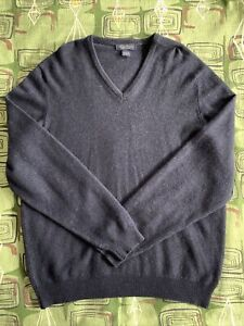 Brooks-Brothers-Cashmere-V-Neck-Sweater-Great-Britain-Large