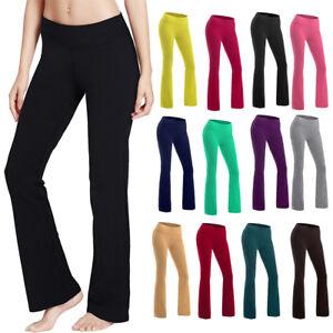 87ad7e7e3bae5 Image is loading Women-Bootcut-Yoga-Pants-Bootleg-Flare-Trousers-Workout-