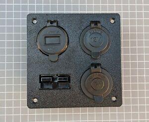 Anderson-Plug-4-Outlets-Flush-Mount-Plate-Merit-12V