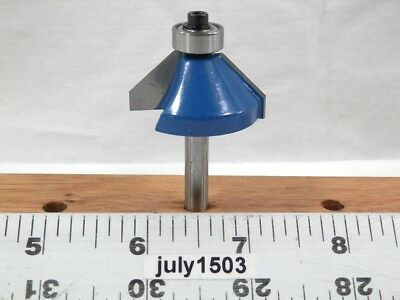 "NEW  5//8/"" 45° Chamfer Bevel Trim Carbide Tip Router Bit 1//2 Bearing k2 1"
