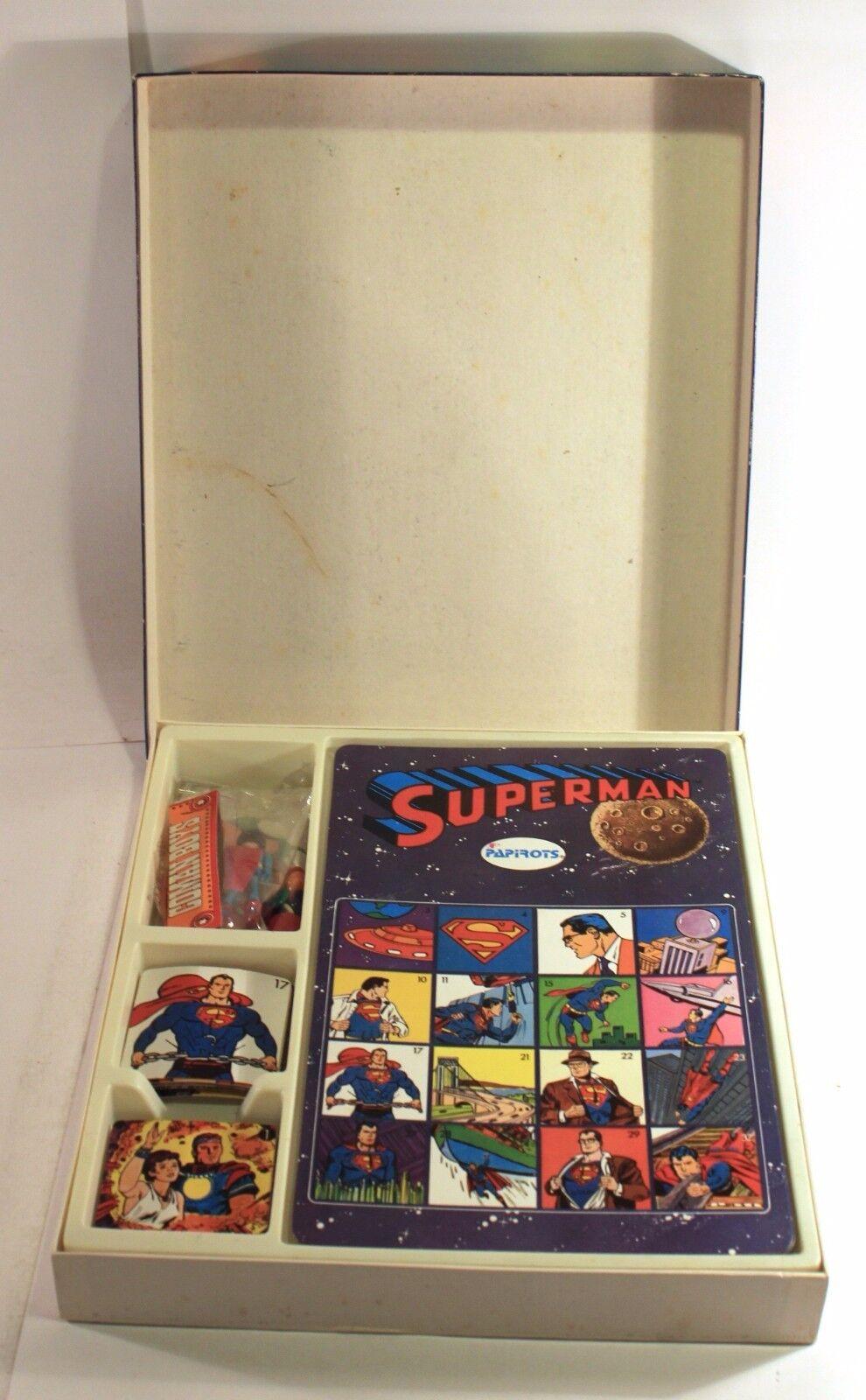 1980 Papirot SUPERMAN BINGO Spanish vintage vintage vintage game NEW & 100% COMPLETE w/ figure 741dcb