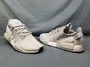 Adidas Men S Nmd R1 V2 Running Sneakers Woven Grey Silver White Size 11 5 Nwob Ebay