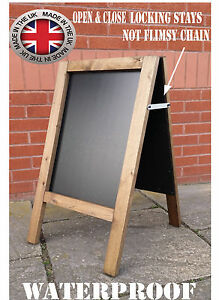 WOODEN-PAVEMENT-SIGN-A-BOARD-CHALKBOARD-CAFE-SHOP-PUB-LIQUID-CHALK