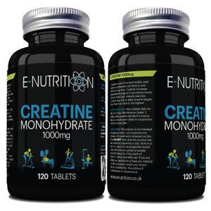 Kreatin-Monohydrat-Aufbau-Staerke-amp-Muscle-Groesse-2000mg-pro-Portion-120-Tabletten