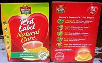500gm Natural Care Red Label Brooke Bond Tea Indian With 5 Ayurvedic Pure Herb