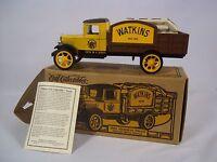 Ertl 1931 Watkins Hawkeye Truck Die Cast Coin Bank Delivery Truck Replica