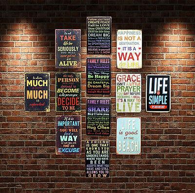 Les Instruments et la paroi de Transformation NaiCasy Bar Sign Wall Plaque Vintage M/étal Tin Sign Wall Plaque Poster pour caf/é Bar pub brasseries