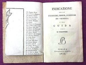 1815-VERONA-GUIDA-PER-LI-FORESTIERI-CON-PIANTA-CITTA-E-STAMPE-RARA