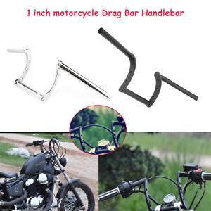 Guidon-Z-Bar-Moto-Bobber-25mm-1-039-039-pour-Honda-Yamaha-Suzuki-Kawasaki-Harley