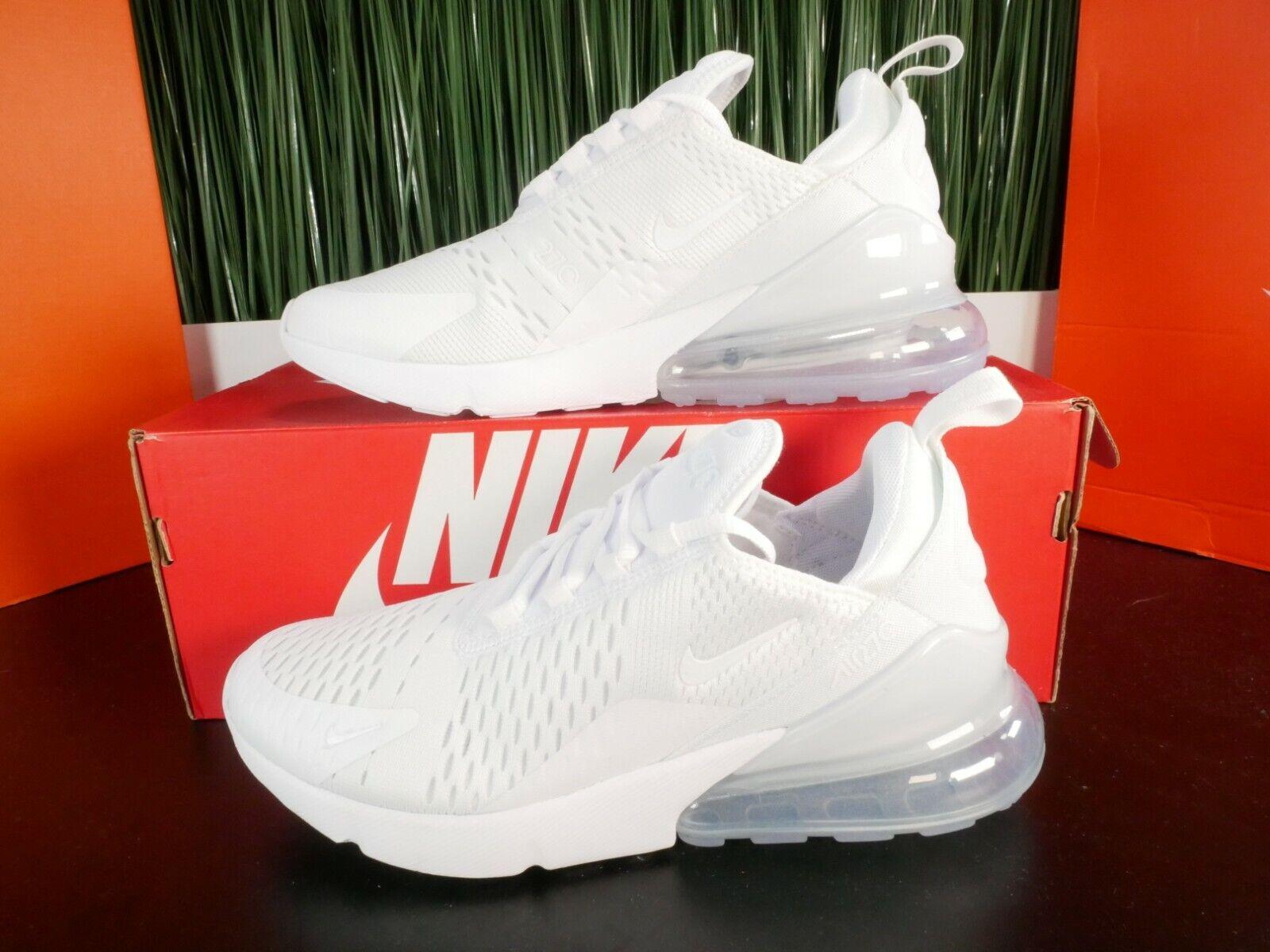 RARE Nike Air Max 270 GS Unisex Triple White Womens Running Shoes Size  5.5-8.5