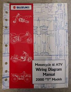 """2000 Suzuki Motorcycle & ATV Wiring Diagram Manual """"Y ..."""