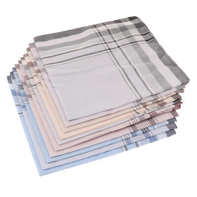 10Pcs 38x38cm Mens Vintage Pocket Hanky Cotton Handkerchief Square Handkerchiefs