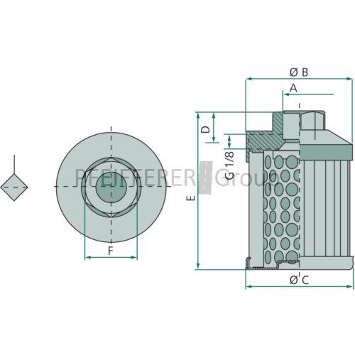 Hidráulica saugfilter 30.162 ms090
