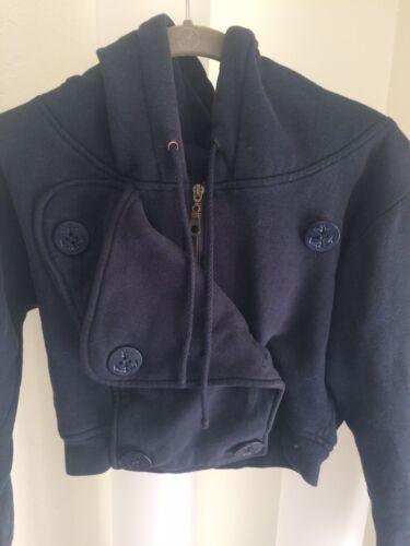 Rojas double breasted sweatshirt navy jacket hoodi