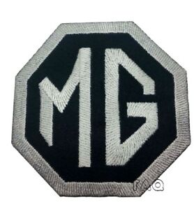 MG-Motors-Embroidered-Logo-Crest-Badge-Iron-Sew-On-Patch-Badge-Black