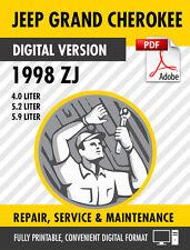 1998 Jeep Grand Cherokee ZJ Factory Repair Service Manual