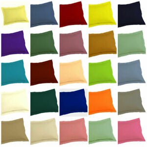 Soft-250TC-EGYPTIAN-COTTON-2European-Standard-Pillowcases-Queen-King-SOLID-COLOR