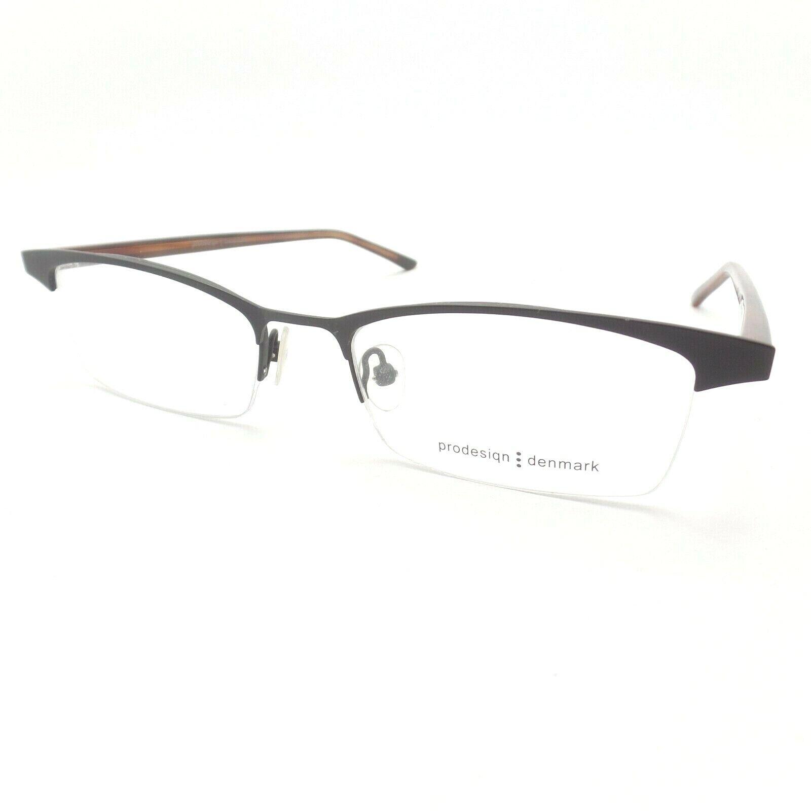 ProDesign 1143 6031 52 Matte Black Brown New Authentic Eyeglass Frame