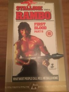 RAMBO-FIRST-BLOOD-PART-II-VHS-VIDEO-Sylvester-Stallone
