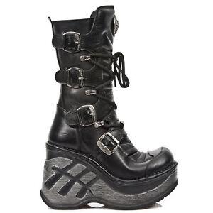 Rock Stivali Sp9873 Classic Trail Black sexy Punk Gothic s1 pelle Ladies Newrock in xFRqOwg0x