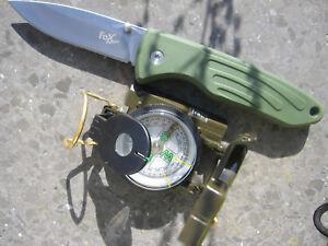 Kompass Orientierungshilfe Messer BW US Outdoor oliv PVC 2 in1 Taschenmesser