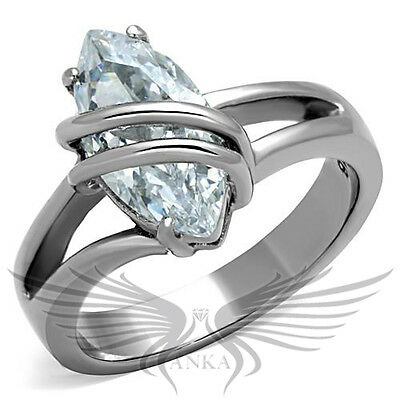 Brilliant 2.5ct Marquise Cubic Zircon CZ AAA Engagement Ring 5 6 7 8 9 10 TK1531