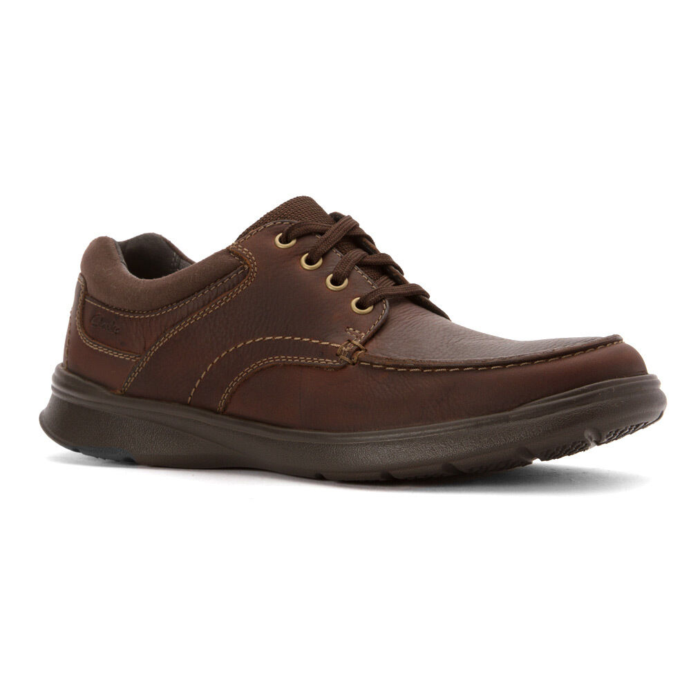 Uomo Clarks Cotrell Edge 26119803 Brown Oily Pelle 100% Authentic Brand New