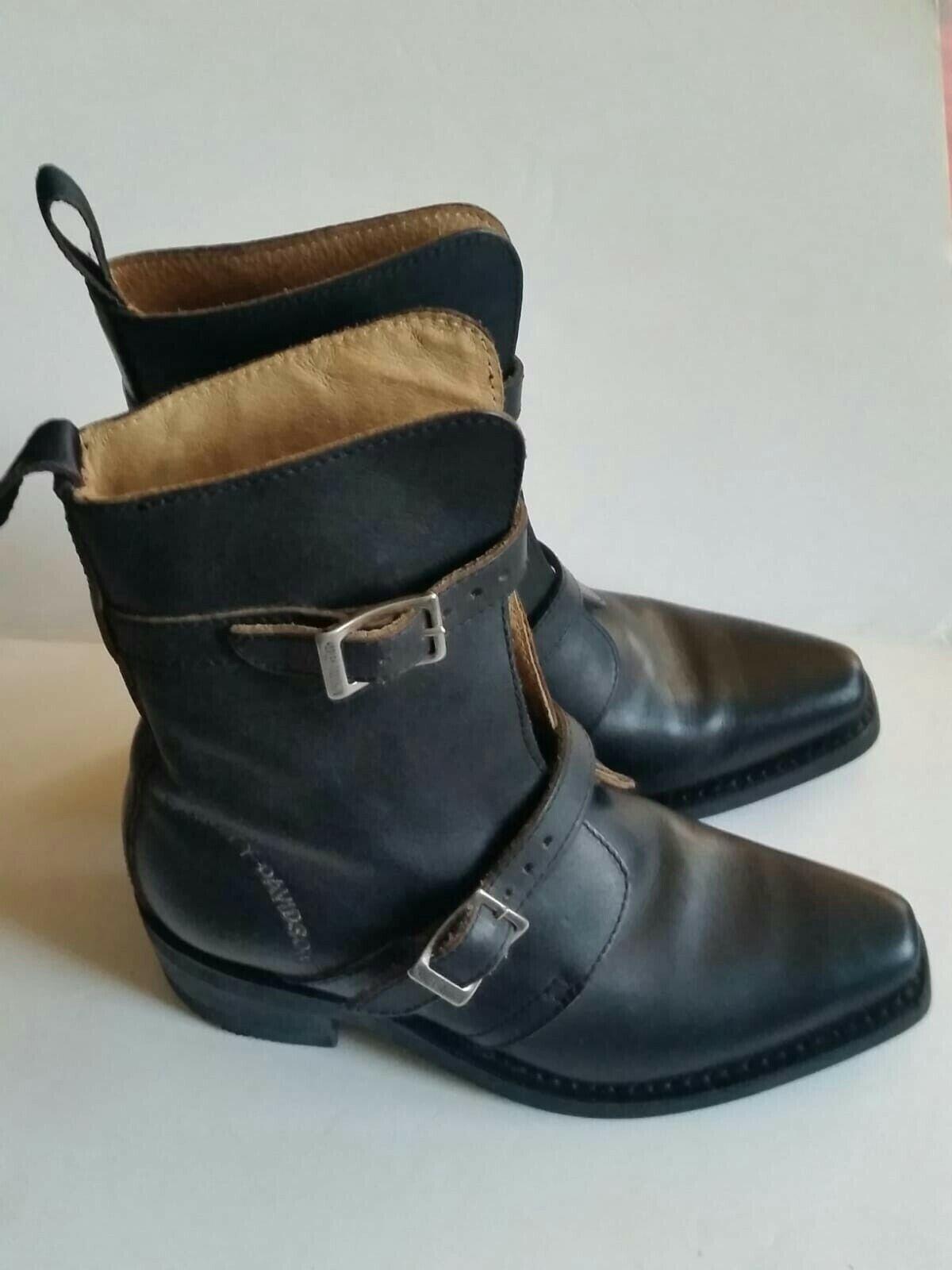 HARLEY DAVIDSON Women's Mid Cut  BOOT Black UK Size 5 EU 36.