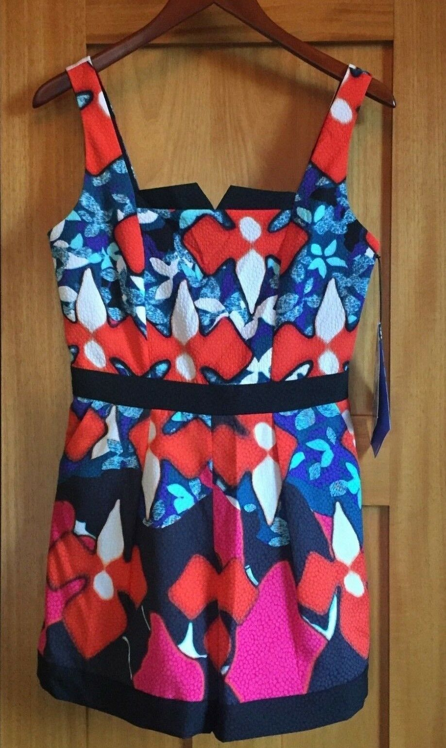 PETER PILOTTO for Target Sleeveless Romper Shorts RED IRIS Size 4 NWT