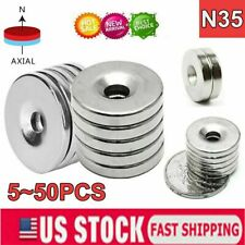 N35 Countersunk Ring Round Disc Strong Magnets Rare Earth Neodymium With Hole 5mm