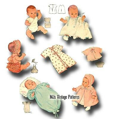 "Vtg 20/"" Baby Doll Clothes Pattern~ Dy Dee Sparkle Plenty Tiny Tears Tootles"