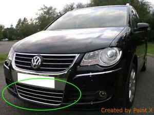 vw touran ii 1t3 chrome kit front grille covers trim. Black Bedroom Furniture Sets. Home Design Ideas