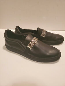 NEW-500-VERSACE-Collection-Mens-Sneakers-Loafers-Black-Silver-13-US-46
