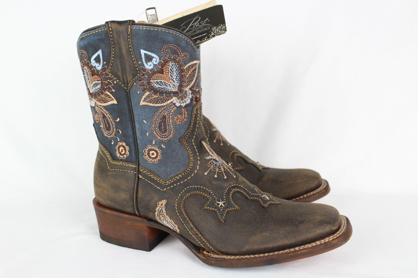 negozio online New Dan Post Donna  Cowgirl Certified Stars & & & Lilies stivali 7.5 Denim Choc  5282  vendita online risparmia il 70%