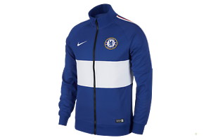 Nike Chelsea FC 2018-2019 Anthem Line Up  Soccer Jacket Royal Blue White