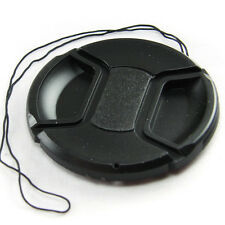 77mm Center Pinch Snap on Front Lens Cap Cover for Lens / Filters with Leash