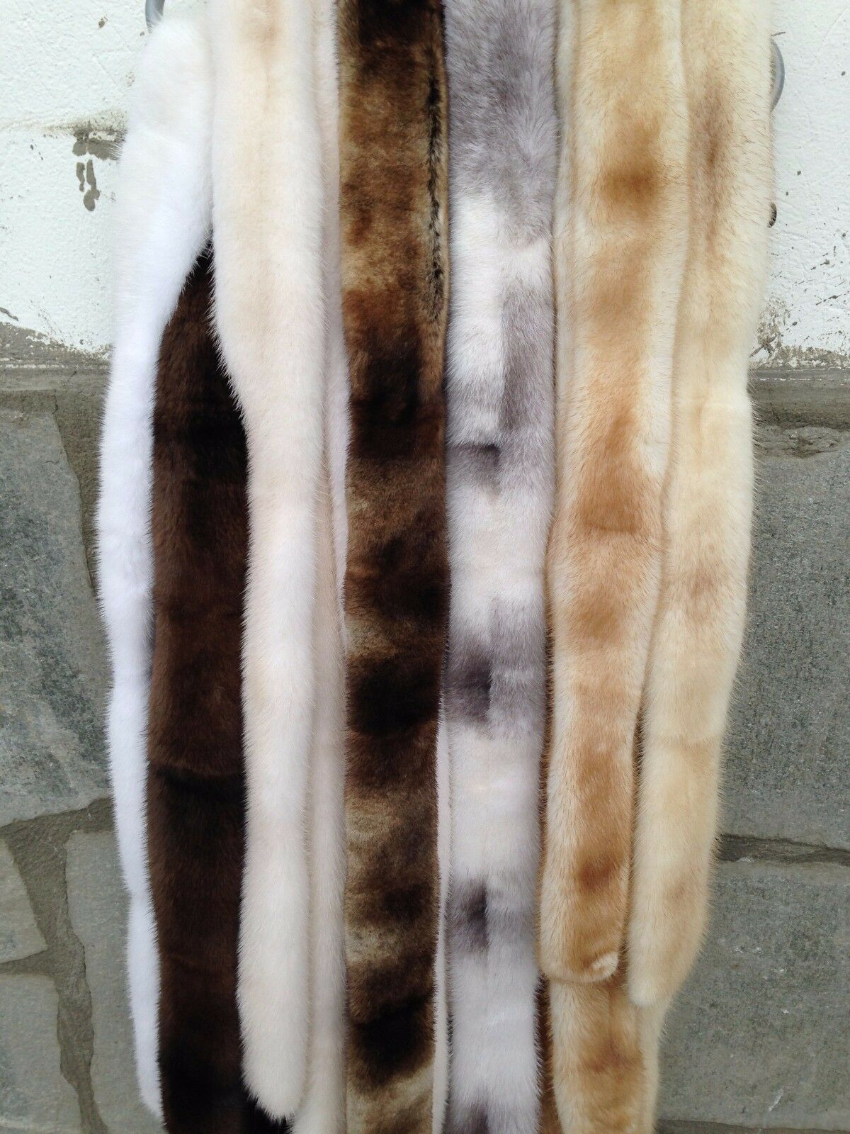 Nouvelle SAGA MINK FUR ceintures-NOIR BLANC PERLE MARRON ACAJOU BLEU IRIS SAPHIR