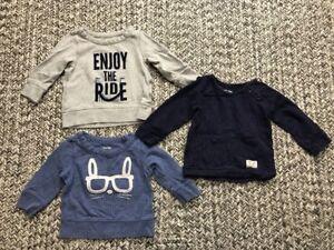 f605b1e6ba51 Baby Gap Pullover Sweater Gray Navy Blue Bunny 12-18 100% Cotton ...
