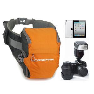 Great quality Caseman AW02 DSLR orange camera fanny pack waist bag case Orange