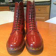 DR MARTENS SIZE 7 BOOTS 1490 OXBLOOD CHERRY RED 1970S DOC MARTIN