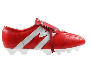 ff25d506fef Image is loading Soccer-Cleats-Manriquez-MID-SX-Red-White-Genuine-