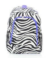 Zebra print Backpack, School Bag, Book Bag, Back Pack