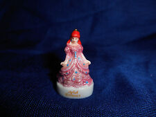 ARIEL inPINK GOWN Little MERMAID French Porcelain Feves Figurine DISNEY PRINCESS