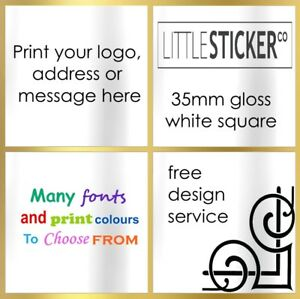 Photo printed stickers  or full colour LOGO x 100 quality glossy labels