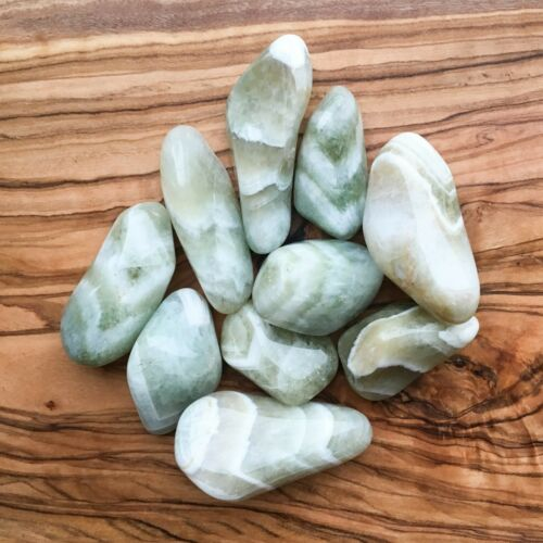 Large Prasiolite Tumblestones 100g Wholesale Crystal Therapists Healers Healing