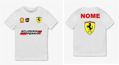 tshirt maglietta bimbo Stampa REPLICA divisa FERRARI personalizzata nome bambino Abbigliamento e accessori Bambini 2 - 16 anni