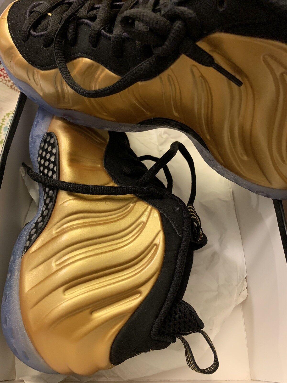 New Nike Air Foamposite One Metallic gold Black (314996-700) Size 8.5 Dead Stock